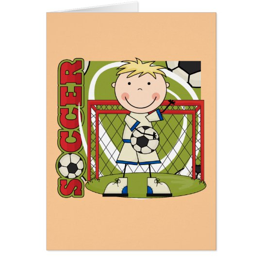 SOCCER - Blonde Boy Goalie Tshirts and Gifts Card