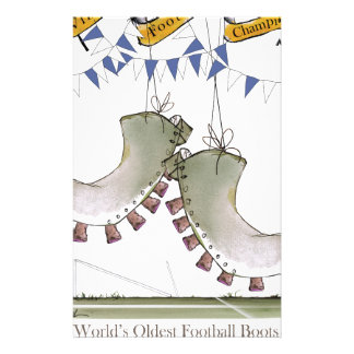 soccer blue team boots stationery