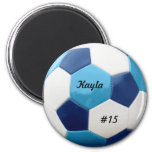 Soccer Blues 6 Cm Round Magnet