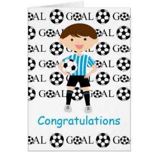 Soccer Boy 1 Congratulations Card