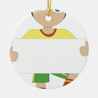 Soccer Boy Christmas Ornament