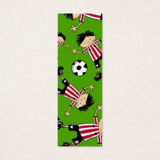 Soccer Boy Football Bookmark Mini Business Card