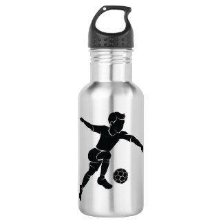 Soccer Boy Kicking Silhouette 532 Ml Water Bottle