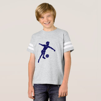 Soccer Boy Kicking Silhouette T-Shirt