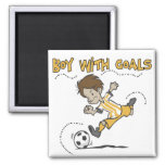 Soccer - Boy With Goals Tshirts and GIfts Fridge Magnets