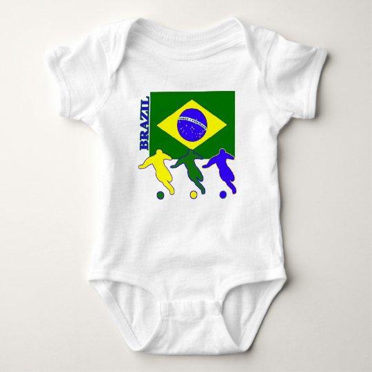 Soccer Brazil Baby Bodysuit