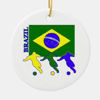 Soccer Brazil Christmas Ornament
