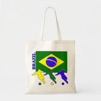 Soccer Brazil Tote Bag