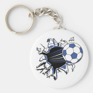 Soccer Burst T-shirts and Gifts Basic Round Button Key Ring