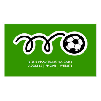 Soccer business card design