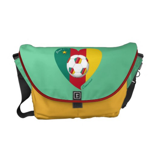 "Soccer ""CAMEROUN"" Football Team, Soccer of Camerou Messenger Bags"
