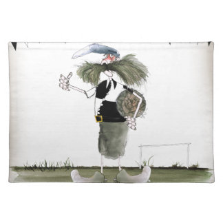 soccer captain black + white kit placemat
