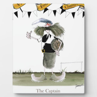 soccer captain black + white kit plaque