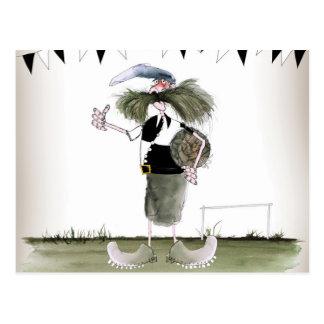 soccer captain black + white kit postcard