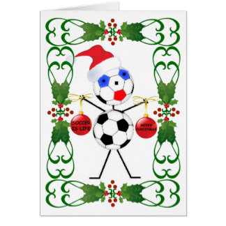 Soccer Cartoon Christmas Card