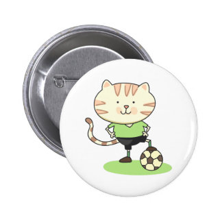 Soccer Cat Buttons