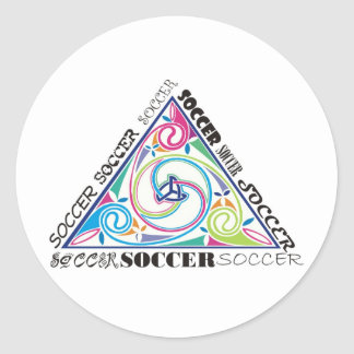 Soccer Celtic Triangle Round Stickers