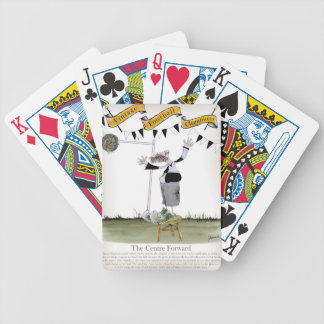 soccer centre forward black + white kit bicycle playing cards