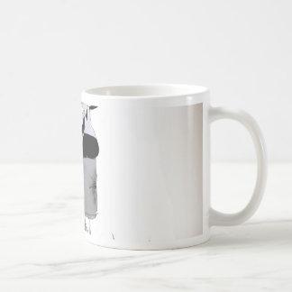 soccer centre forward black + white kit coffee mug