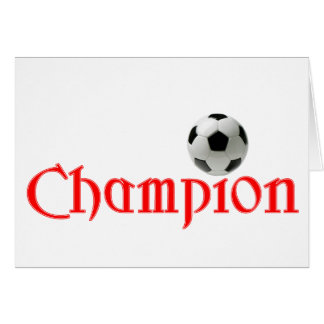Soccer CHAMPION Greeting Card