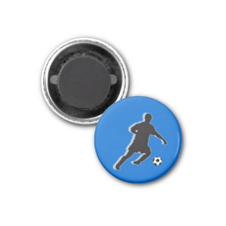 Soccer Chess TAG Defender (Knight) - Blue-L Magnets