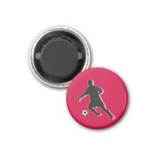 Soccer Chess TAG Defender (Knight) - Red-R Fridge Magnets