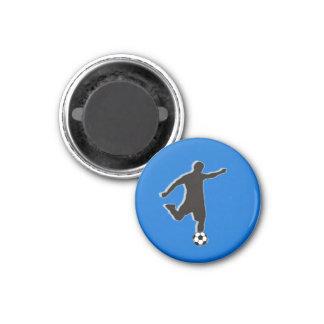 Soccer Chess TAG Forward (Attacker) - Blue-L Fridge Magnets