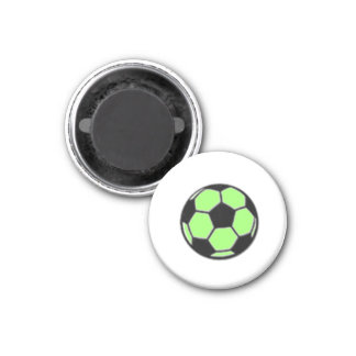 Soccer Chess TAG Game Ball (Lt Lime) 3 Cm Round Magnet