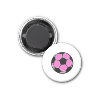 Soccer Chess TAG Game Ball (Pink) Refrigerator Magnet