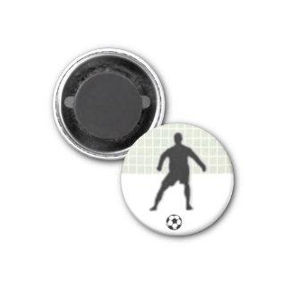 Soccer Chess TAG Goalkeeper (King) - White-R Refrigerator Magnet