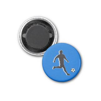 Soccer Chess TAG Midfielder (Bishop) - Blue-L 3 Cm Round Magnet