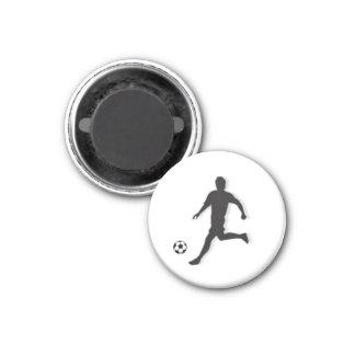 Soccer Chess TAG Midfielder (Bishop) - White-R 3 Cm Round Magnet