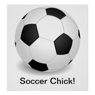 Soccer Chick Poster Posters