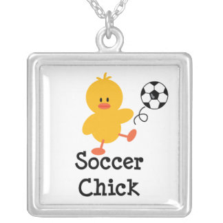 Soccer Chick Sterling Silver Necklace