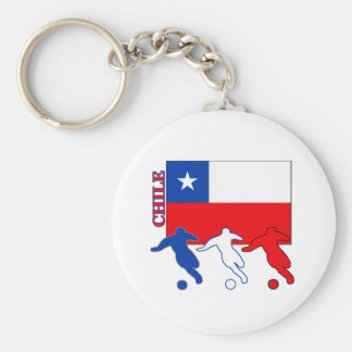 Soccer Chile Key Chain
