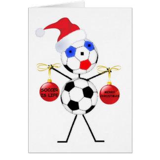 Soccer Christmas Card