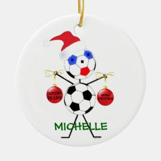 Soccer Christmas Cartoon Christmas Ornament
