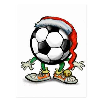 Soccer Christmas Postcard