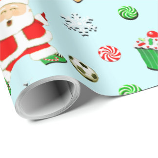 soccer Christmas Wrapping Paper