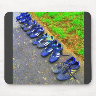 soccer cleats mouse mat