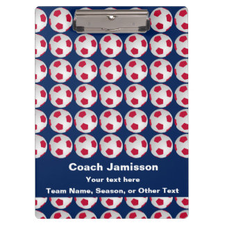 Soccer Clipboard, Red, White, and Blue Clipboard
