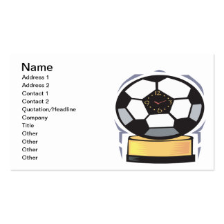 Soccer Clock Business Card Template
