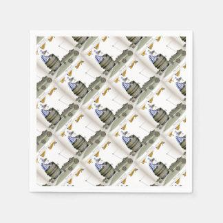 soccer coach blue white stripes disposable napkins
