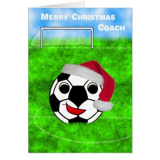 soccer coach christmas greeting card