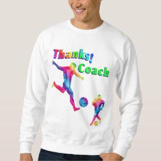 Soccer Coach Colorful Thank You Sweatshirt
