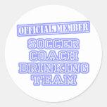 Soccer Coach Drinking Team