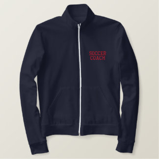 SOCCER COACH EMBROIDERED JACKET