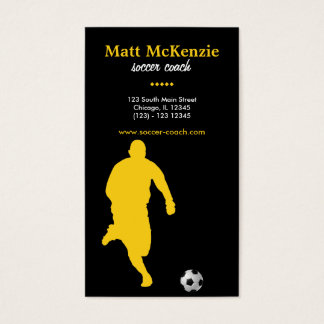 Soccer Coach (Gold) Business Card
