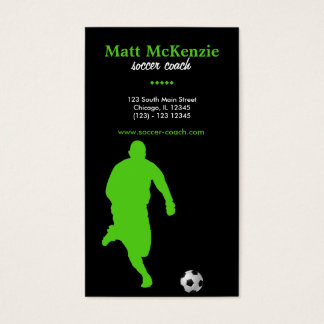 Soccer Coach (Green) Business Card