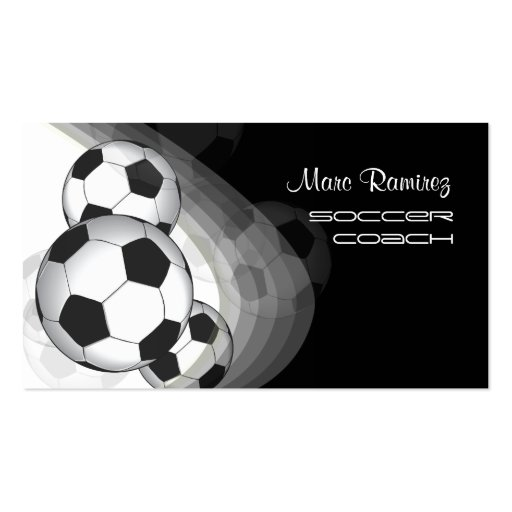 Soccer coach/soccer moms calling cards business card templates